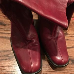 J crew leather boots 7